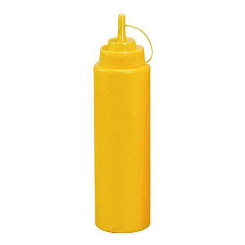 MoreLucky Kitchen Squeeze Flasche für Gewürzsauce Salat Essig Ketchup Sahne Squeeze Flasche Spender, 16 oz, gelb