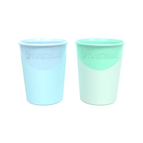 Twistshake 2x taza 170ml 6+ m Pastel azul verde