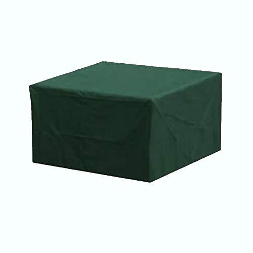 Cubierta para muebles de tela Oxford verde para jardín, impermeable, protector solar, resistente al viento mesa de jardín y silla, cubierta de polvo combinada, cuatro tamaños