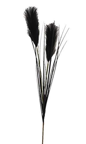 2474U Kunstzweig Pampasgras schwarz ca. 105cm naturgetreu, Trockenzweig imitiert