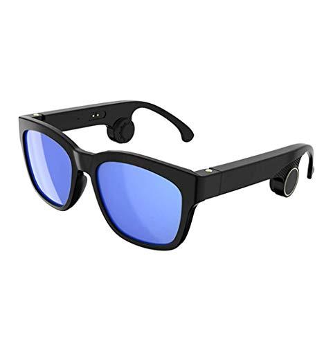 SMSOM Gafas de sol Bluetooth, gafas de sol abiertas de audio para escuchar música y hacer llamadas telefónicas, resistencia al agua y protección de lentes UV completa para gafas de sol de moda deporti