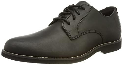 Timberland Woodhull Leather Oxford Basic, Plano Hombre, Negro (Black Full Grain), 43.5 EU