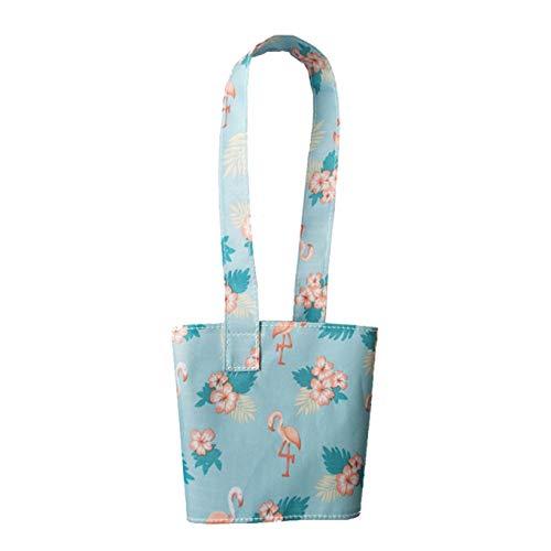 Shilia Milieuvriendelijke Cartoon Draagbare Cup Bag Pure Katoen Doek Tas Voor Melk Thee