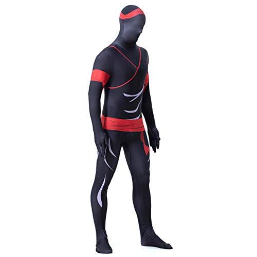 Mbswdd Halloween Kostuum Stretch Lichaam Pak Ik ben Onzichtbaar Kostuum Stretch Lichaam Pak Japanse Ninja Cosplay Kostuum Bodysuit