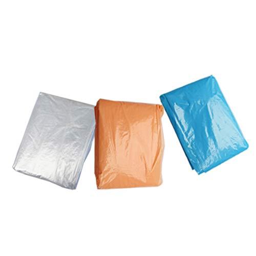 VORCOOL Einweg-Regenmantel Regen Poncho Jacke mit Kapuze Und Ärmeln Notfall Regen Wind Mantel Umhang Tragen für Männer Frauen Zufällige Farbe Stil 1