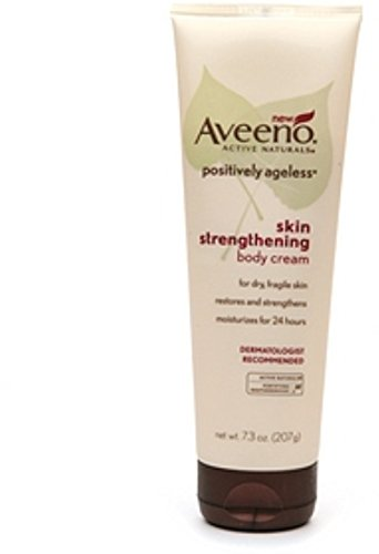 Aveeno Active Naturals Positively Ageless Skin Strengthening Body Cream - 7.3 Oz ( Pack of 3 )