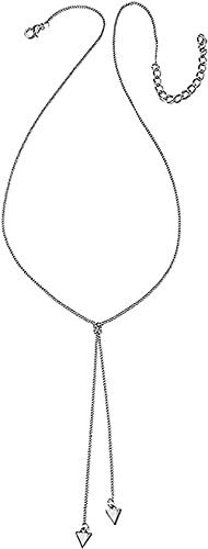 Yiffshunl Collar Collar Simple Collar de Mujer Colgante Triangular Collar Doble Collar Largo de Plata Dorada Decoración Vestido de Encanto Femenino