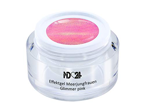 Uv Led Effekt-Gel Meerjungfrauen Glimmer Pink - Rosa - Studio Qualität - Made In Germany - 5ml