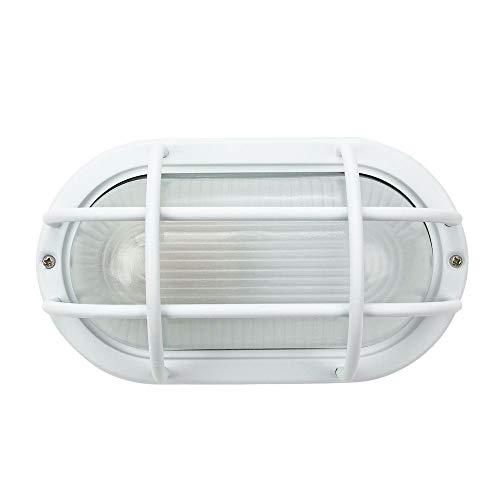 Montatura per paratia in stile industriale ovale in alluminio pressofuso bianco opaco:FBM