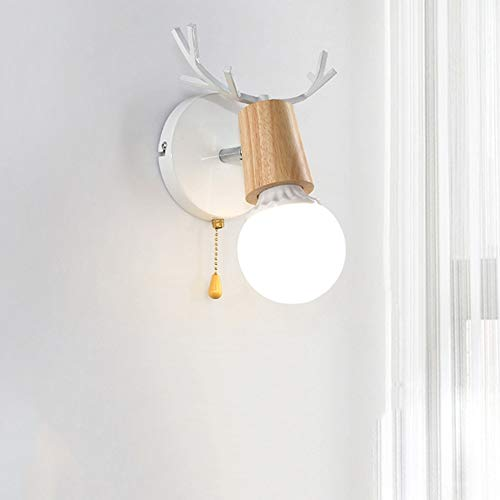 De enige goede kwaliteit Decoratie Nordic Wood Art Creatieve Persoonlijkheid Antler Woonkamer Slaapkamer Wandlamp Badkamer Vanity Spiegelkast Licht Badkamer Spiegel Koplampen
