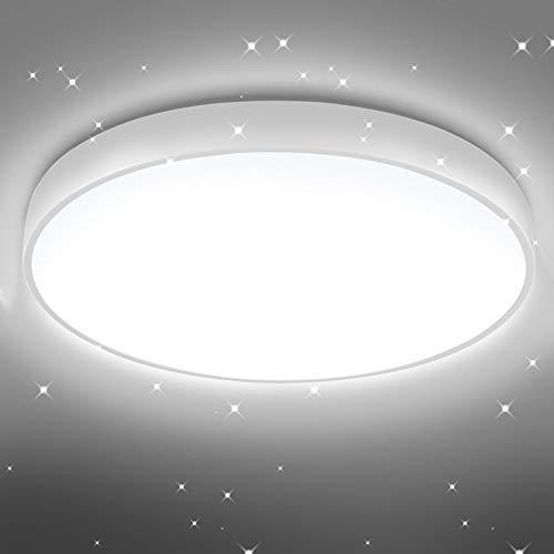 Tycolit 20W Deckenlampe, LED Deckenleuchte IP54 Wasserfest, 6500K Badlampe, 2800LM Lampe Kaltweiß Licht, Rund Leuchte Ideal für Badezimmer Balkon Flur Küche Wohnzimmer Schlafzimmer Kinderzimmer