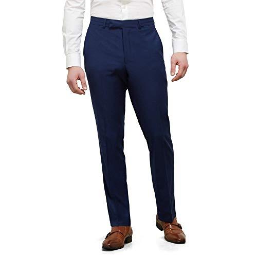Kenneth Cole REACTION Men's Techni-Cole Stretch Slim Fit Suit Separate (Blazer, Pant, and Vest), Modern Blue, 36W x 30L