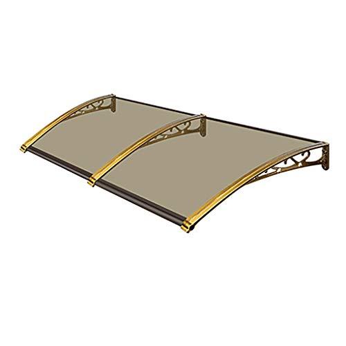 QYQPB Aluminiumlegierung Baldachin, Markise, Outdoor Home Balkon Fenster Regenschutz Markise Für Innenhof, Champagner Aluminiumlegierung Halterungen, PC Endurance Board , 8 Größen (Size : 80 * 80cm)