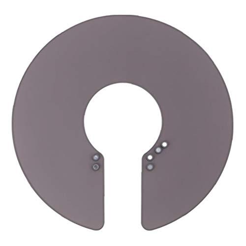 Cuello capa de peluquero Wrap escudo collar impermeable de silicona gris peluquería herramienta para el Tratamiento de coloración del cabello Moda