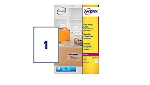 Avery-Zweckform Clear Parcel Label - Laser - L7567