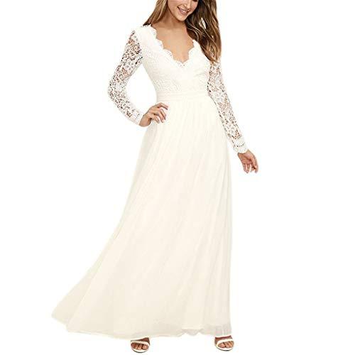 Vestido de Novia para Boda Blanco Vestidos de Fiesta Mujer Largos Elegante...