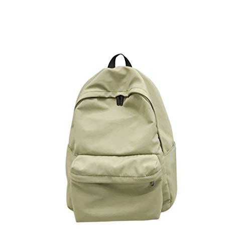 sac à dos vintage unisexe anti-vol sac de rangement de voyage école collège durable cartable pour étudiant hommes femmes - vert