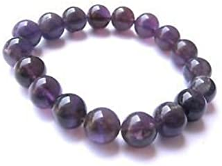 crystalmiracle Amethyst Power Bead Stretch Bracelet crystal gemstone Fashion Jewelry men women Gift Wellness meditation positive energy powerful handcrafted accessory