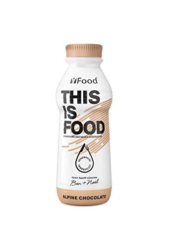 YFood Chocolate, repas prêt à boire | substitut de repas sans lactose/sans gluten | 33 g de protéines, 26 vitamines et minéraux | 25 % des apports journaliers en calories | 12 x 500 ml (1 kcal/ml)