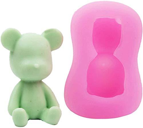 hwljxn Teddybär-Form-Silikon-Kerzen-Seife, die Form-Kuchen-Dekorieren von Fondant-Pralinen-Backback-Backform für Hochzeits-Babyparty-Geburtstag