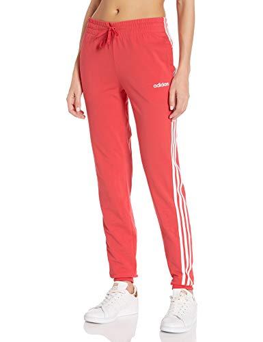 adidas Essentials 3s Single Jersey Pant Pantalones de chándal, Core Rosa/Blanco, Medium/A para Mujer