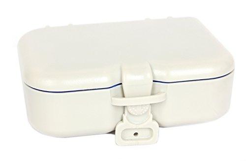 FreshGadgetz 1 Set di Scatola porta dentiera con specchio e spazzolino - Contenitore da bagno per dentiere, apparecchi dentali e altre protesi dentali