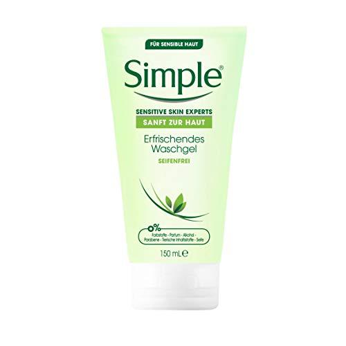 Simple Sanft zur Haut Erfrischendes Waschgel für sensible Haut seifenfrei 150 ml 1 Stück