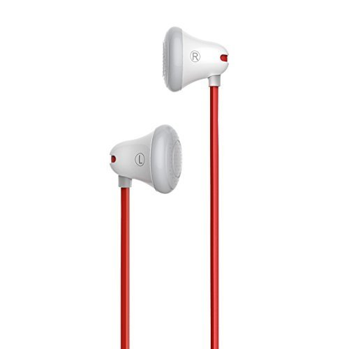 GranVela Mrice E100 High Fidelity Stereo Earbuds Tangle-Free Triangle Cable in-Ear Headphones for iPhone, iPad, Smart Phones and More (White)