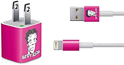 Skinit Decal Other Skin for iPhone Charger (5W USB) - Officially Licensed Betty Boop Betty Boop Pink Background Design