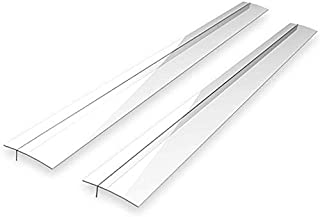 Maddott Kitchen Silicone Stove Counter Gap Cover, Wide Long Gap Filler, Seals Spills Between Counter, Heat Resistant Easy Clean, for Counter, Stovetop, Oven, Washer and Dryer, Set of 2 (Clear)
