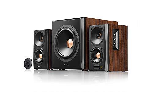 Edifier S360DB 2.1 Regellautsprecher und Subwoofer Lautsprechersystem Bluetooth V4.1 aptX kabelloser Sound für Arbeitszimmer, Wohnzimmer und kleine Räume