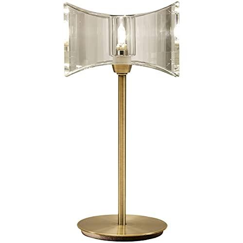 Inspired Mantra - Kromo - Lámpara de mesa 1 luz G9 Marco Sraight, latón antiguo