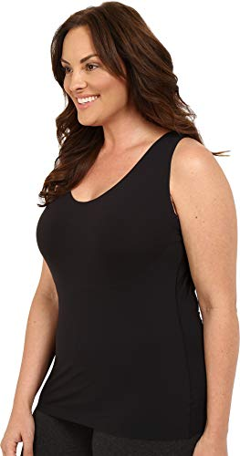 SPANX Shapewear for Women Thinstincts Tummy Control Compression Tank (Regular and Plus Sizes) Very Black LG