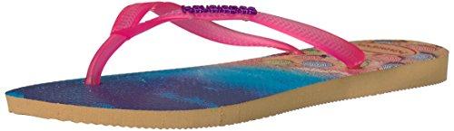 Havaianas Women's Slim Paisage Ivory Flip Flops Sandals Shoes Sz: 9/10