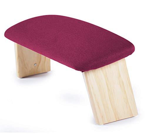 ecoYoga Banco Alto de meditación tapizado y Plegable