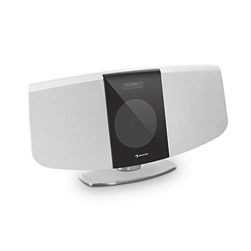 AUNA BlackMask Vertical Stereo System - MP3-Compatible CD...