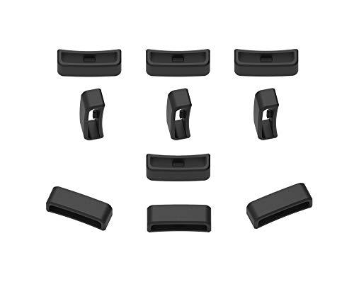Ruentech - Pulsera para Garmin Forerunner/Fenix/Samsung Gear S3/Fitbit Versa/Inspire/Charge 3/Suunto/Tomtom Smartwatch, Color Black-28mm