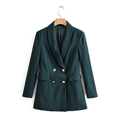 Herfst vrouwen blazer jassen vrouwen twee rijen kantoor blazer mantel casual vrouwen pakken lange mantel