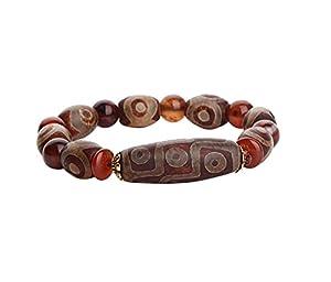 DBXOKK Glückssegen Feng Shui Perlen Armband Reichtum Armband, Feng Shui tibetischen Dzi Perlen Schutz Amulett Armband, Reichtum und viel Glück anziehen
