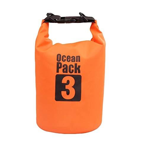 Sac Sec étanche en Plein air Plage PVC Boucle Sac de Rangement Flottant Voyage Bateau Sac de Rangement Sac de Rafting, 3L