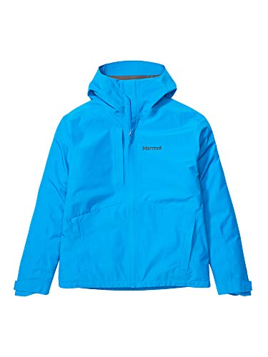 Marmot Minimalist Jacket Chubasquero rígido, Chaqueta impermeable, a prueba de viento, impermeable, transpirable, Hombre, Clear Blue, M
