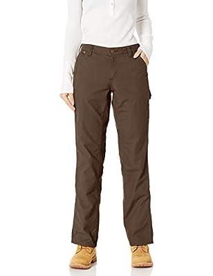 Carhartt Women's Original Fit Crawford Pant, Dark Brown, 4 Short