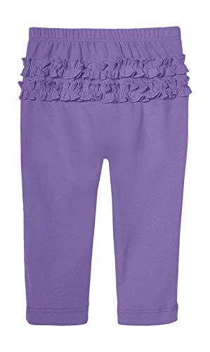 City Threads Baby Girls' Ruffle Leggings Butt Tights Toddler Children Young Kids Pants Play Perfect for Holiday Party Christmas Sensitive Skin SPD Sensory Friendly Clothing, Light Deep Purple, 9/12m