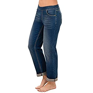 PajamaJeans Women's Stretch Jeans Boyfriend – Loose Jeans for Women