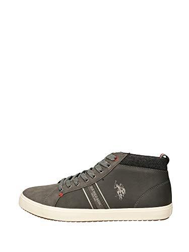 Sneaker Alto US Polo MOD. Varan Ecopelle Colore Grigio Ash Uomo U20UP13