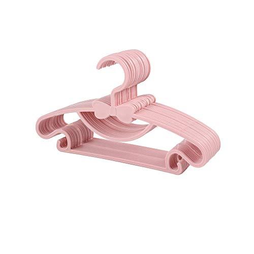 Gobesty Grucce appendiabiti per bambini, in plastica, antiscivolo, set da 20 pezzi, colore rosa