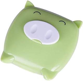 XuBa Cartoon Pig Contact Lens case, Eye Pupil Companion case, Nursing case