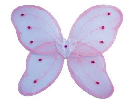 PARTYLINE Ailes de papillon rose