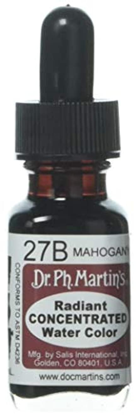 Dr. Ph. Martin's Radiant Concentrated Water Color, 0.5 oz, Mahogany (27B)