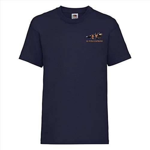 Camiseta de Navidad de la película Le Polo Express/The Polar Express (tallas de niños) Azul marino 7-8 Años